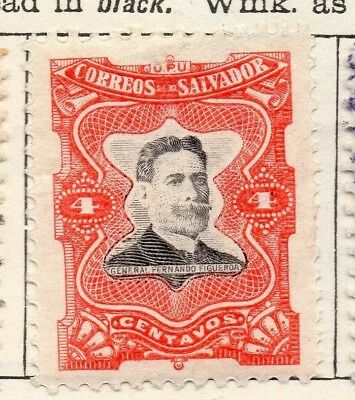 Salvador 1910 Early Issue Fine Mint Hinged 4c. 126187