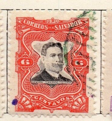 Salvador 1910 Early Issue Fine Used 6c. 126189