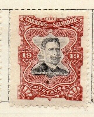 Salvador 1910 Early Issue Fine Mint Hinged 19c. 126193