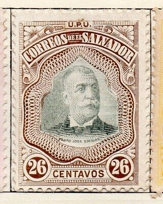 Salvador 1906 Early Issue Fine Mint Hinged 26c. 126210