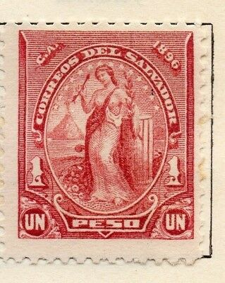 Salvador 1896 Early Issue Fine Mint Hinged 1P. 126247