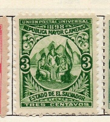 Salvador 1898 Early Issue Fine Mint Hinged 3c. 126268