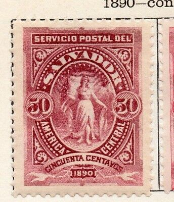 Salvador 1890 Early Issue Fine Mint Hinged 50c. 126285