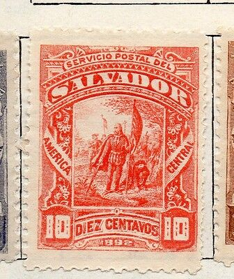 Salvador 1892 Early Issue Fine Mint Hinged 10c. 126301
