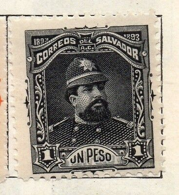 Salvador 1893 Early Issue Fine Mint Hinged 1P. 126317