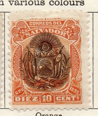 Salvador 1895 Early Issue Fine Mint Hinged 10c. Optd 126338