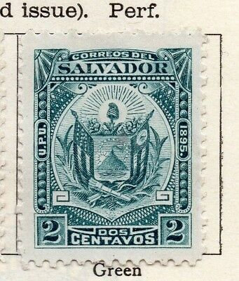 Salvador 1895 Early Issue Fine Mint Hinged 2c. 126344
