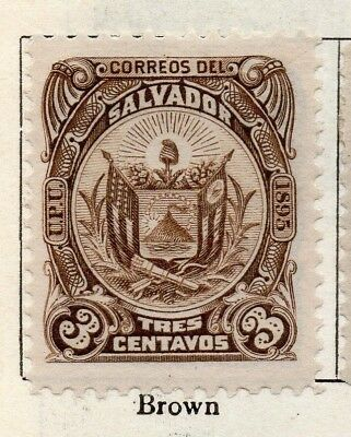 Salvador 1895 Early Issue Fine Mint Hinged 3c. 126345