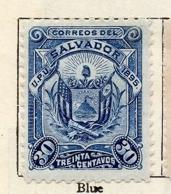 Salvador 1895 Early Issue Fine Mint Hinged 30c. 126351