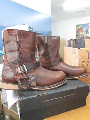 NEW Harley Davidson Mens Leather Boot Boots Shoes Medium Brown Karl
