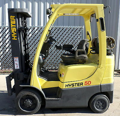 Hyster Model S50FT (2006) 5000lbs Capacity Great LPG Cushion Tire Forklift!!!!!