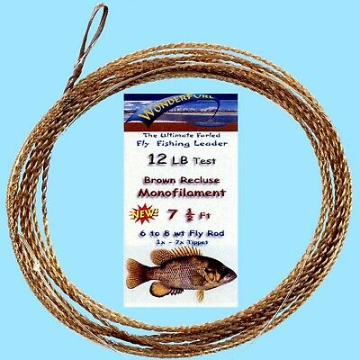 NEW Wonderfurl Brown Recluse Furled Fly Fishing Leader - Your Choice of Strength