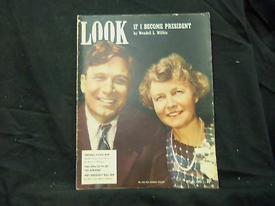 1940 October 22 Look Magazine - Wendell Willkie - St 1466