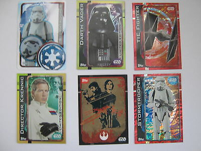 Topps Star Wars Rogue One pick Foil, Plastic, Sticker & Limited edition cards