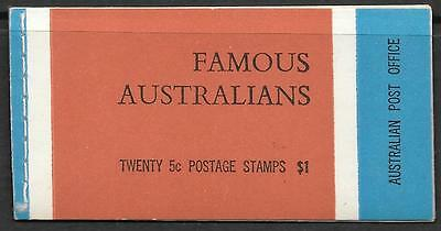 AUSTRALIA 1968 Famous Australians booklet with waxed interleaves, CTO used.