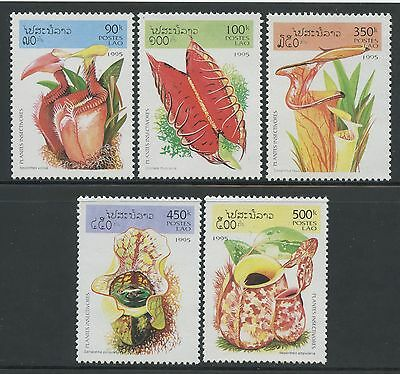 LAOS N°1191/1195**  Fleurs, 1995  Flowers, Insect Eating Plants Sc#1237-1241 MNH
