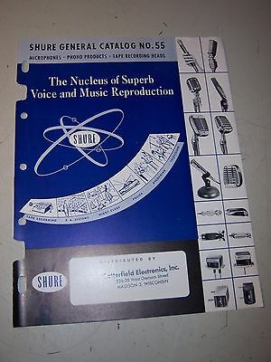 Shure General Catalog No. 55  Microphones, Phono Products & Tape Recording Heads
