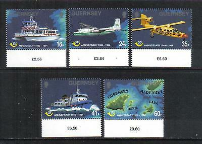 Guernsey 1994 Post Office 25th Anniversary--Attractive Topical (536-40) MNH