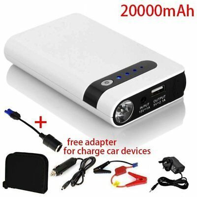 20000mAh Auto Car Jump Starter Emergency Charger Booster Power Bank Battery LED