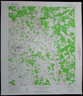 Vine Grove Kentucky Knox Military Reservation vintage 1961 old USGS Topo chart