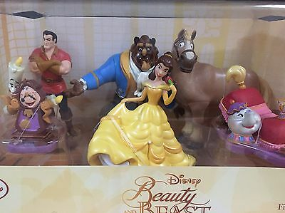 Disney Beauty And The Beast Figurine Playset Cake Toppers BRAND NEW