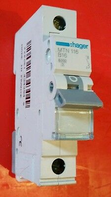 Hager 16A circuit breaker (mcb) - brand new unused
