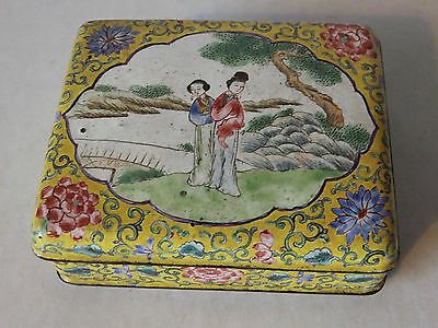 Chinese Enamelled Box Date Unknown