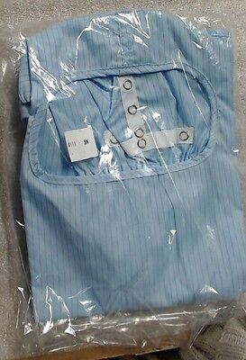 New lot of 7 Worklon cleanroom hood (NS) 1110 226061 blue w/ 3 pairs of booties