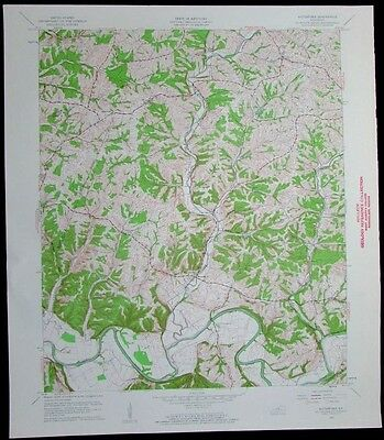 Waterford Kentucky Salt River vintage 1961 old USGS Topo chart