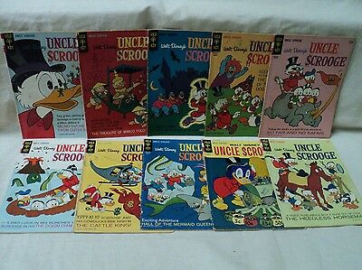 Uncle Scrooge 61-70 SET Carl Barks Lower Grade Gold Key Comics (s 7901)