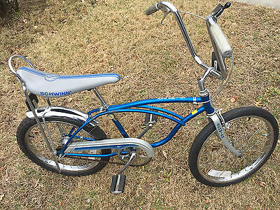 1980 Schwinn Sting Ray 3 Speed Sturmey Archer Blue/Silver Near Mint