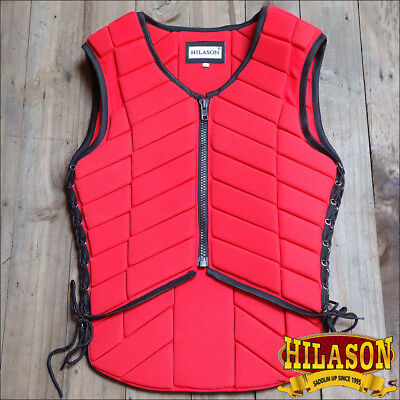 Hilason Adult Safety Equestrian Eventing Red Protective Protection Vest