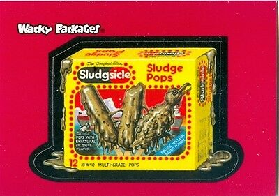 Sludgsicle Sticker Promo Card #2 - Wacky Packages Series One 2004
