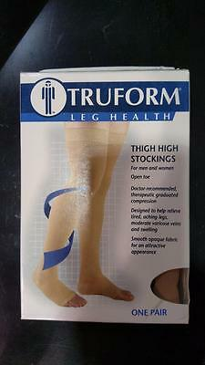 032e4de05 Truform 0868 0868BG-M Thigh High Compression Stockings Beige Medium 20-30  mmHg