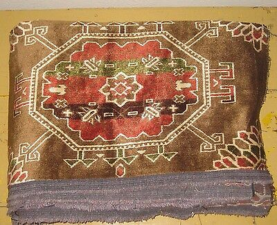 4 YARD Vintage Oriental Rug Style Thick Velvet Upholstery Fabric Made in Belgium