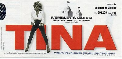 Tina Turner Concert Ticket Original 2000 Valuable Gem Vintage  Rare Dated Mint