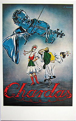 Chardas Hungarian Cuisine, New York City Postcard