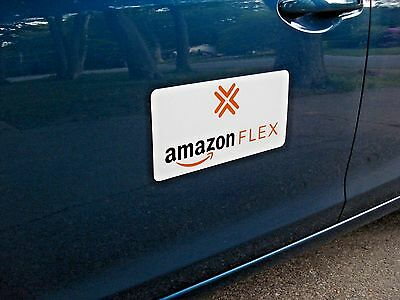 "(1 Pair) AMAZON FLEX  100% Magnetic CAR VEHICLE SIGNS   6"" x 12"" FREE SHIPPING!"