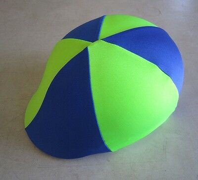 Horse Helmet Cover ALL AUSTRALIAN MADE Lime green & Royal blue Pick your size