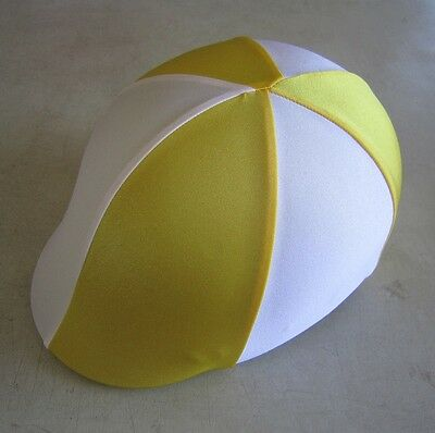 Horse Helmet Cover ALL AUSTRALIAN MADE Yellow & White Any size you need