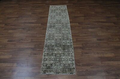 Collectible Antique Narrow Hamedan Runner Persian Oriental Area Carpet 2'8x12'