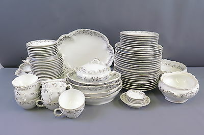 86 Pc. Carlsbad Scalloped 2545-93 Bone China Lot Cup Saucer Plate Bowl Platter