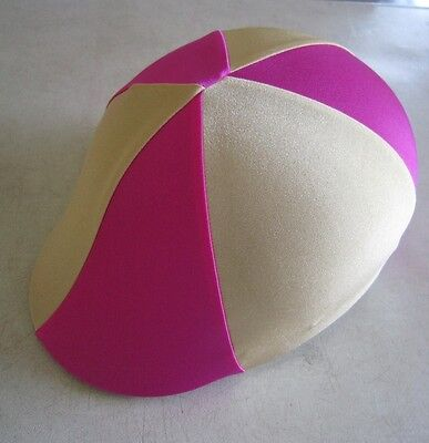 Horse Helmet Cover ALL AUSTRALIAN MADE Hot pink & Gold  Any size you need