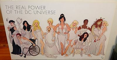 "Rare Adam Hughes ""The Real Power Of The Dc Universe"" Hand Signed Dc Comic Poster"