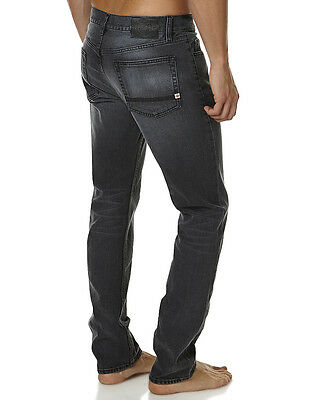 Element Desoto Straight Tapered Black Stretch Jeans, Size 34. NWT. RRP $99.99.