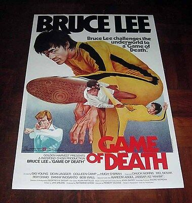 """Bruce Lee """"The Game of Death"""" Gig Young HK Original Overseas Version POSTER"""