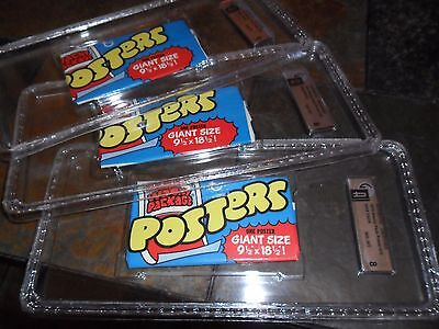 (3) Lot Unopened 1974 Topps Wacky Packages Poster Wax Packs Nm Mint 8 Gai