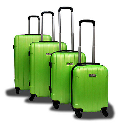 New Generic 4PCS Luggage Travel Set Bag ABS Trolley Suitcase w/ Lock Green