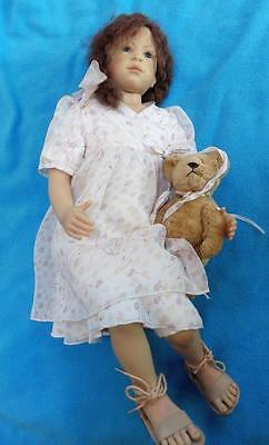 ZAPH HEIDI PLUSZCOK limited edition sitting girl doll with bear 24'' Annabell