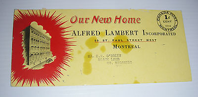 vintage OUR NEW HOME ad blotter Montreal 1 cent postage early century